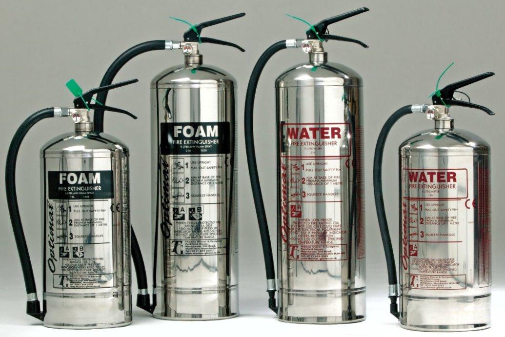 водные и водно-пенные огнетушители