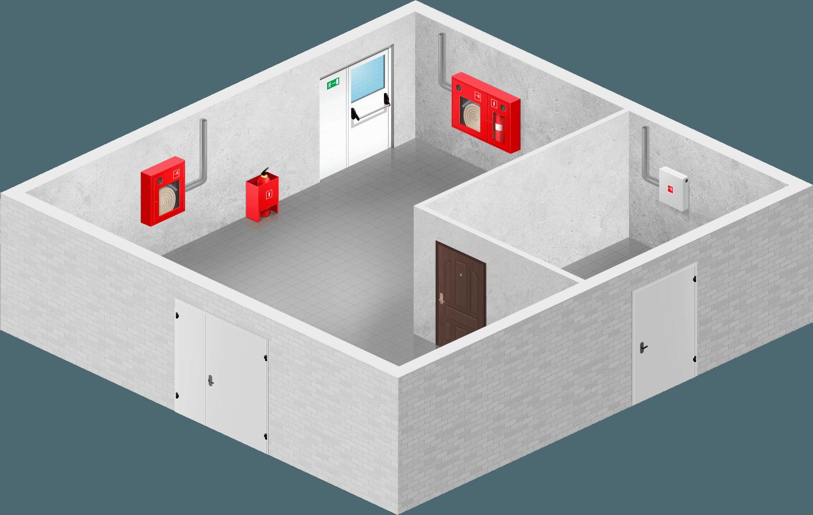план размещения пожарных шкафов