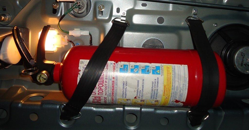 Вот так правильно транспортировать огнетушитель