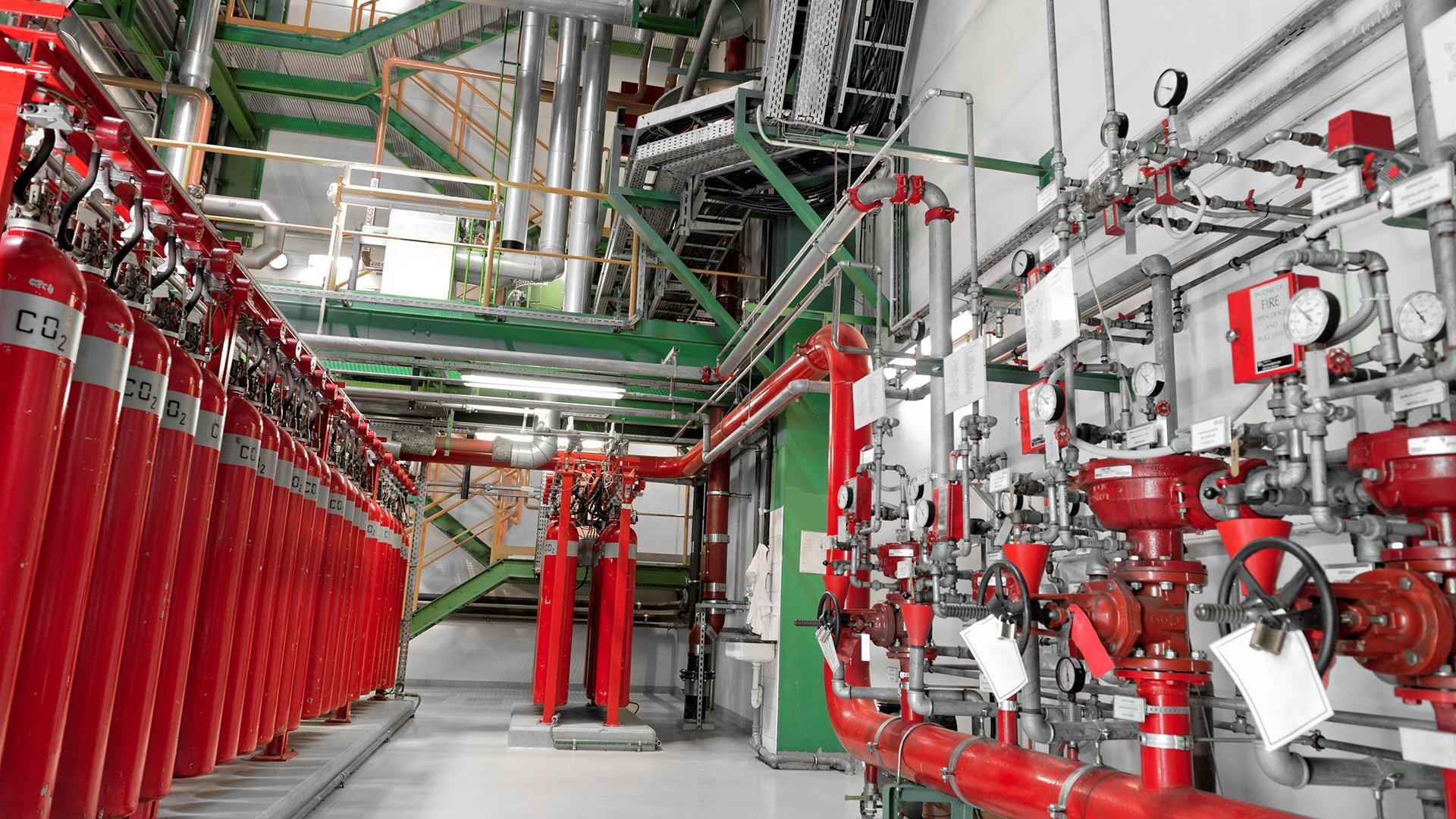 Газовое пожаротушение для чего используется и где применяется
